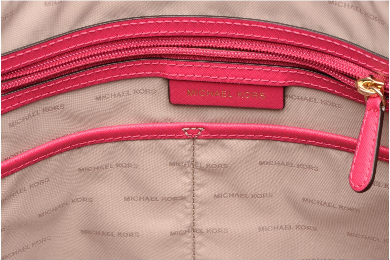 Handtassen Michael Michael Kors Cabas JET SET ITEM EW TZ Tote Zippé Roze achterkant