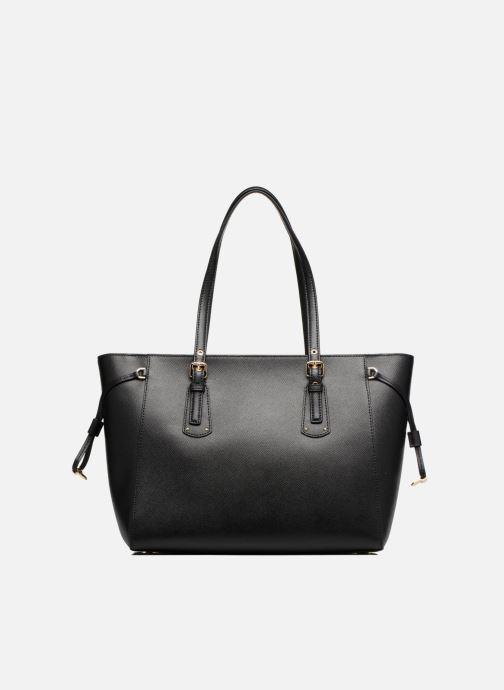 Handtaschen Michael Michael Kors Cabas Voyager MD MF TZ TOTE schwarz ansicht von vorne