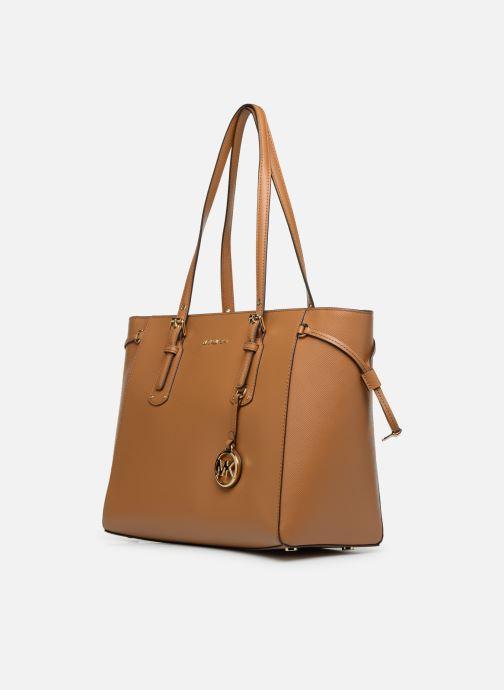 Handbags Michael Michael Kors Cabas Voyager MD MF TZ TOTE Brown model view