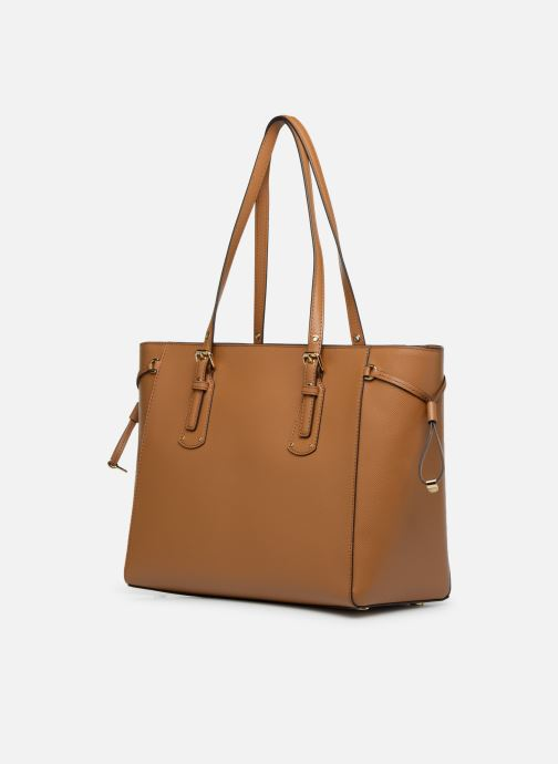 Handbags Michael Michael Kors Cabas Voyager MD MF TZ TOTE Brown view from the right