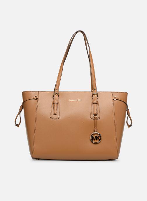 Handbags Michael Michael Kors Cabas Voyager MD MF TZ TOTE Brown detailed view/ Pair view
