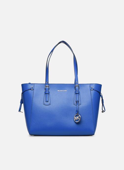 Bolsos de mano Michael Michael Kors Cabas Voyager MD MF TZ TOTE Azul vista de detalle / par