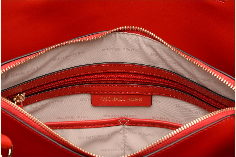 Bolsos de mano Michael Michael Kors Cabas Mercer Gallery LG CENTER ZIP TOTE Rojo vistra trasera