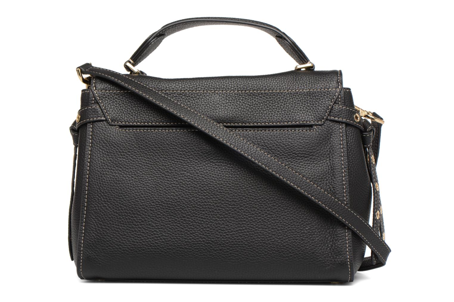 Sacs à main Michael Michael Kors Bristol MD TH SATCHEL Noir vue face