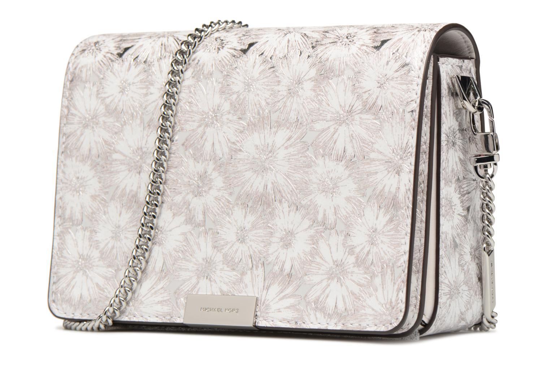 Bolsos de mano Michael Michael Kors Jade MD GUSSET CLUTCH Blanco vista del modelo