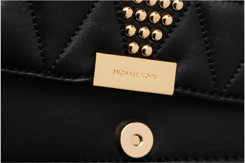 Bolsos de mano Michael Michael Kors Jade MD GUSSET CLUTH Negro vista lateral izquierda