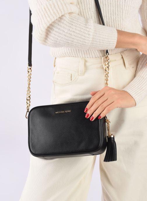 Handbags Michael Michael Kors Ginny MD Camera Bag Black view from underneath / model view