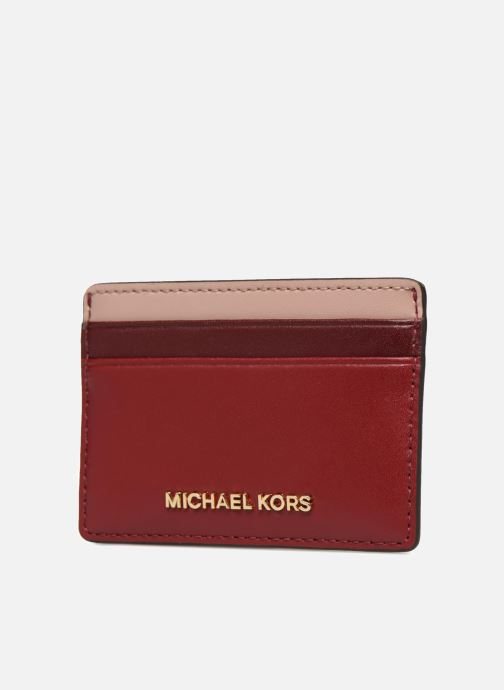 Kleine lederwaren Michael Michael Kors Money Pieces Card Holder Rood model