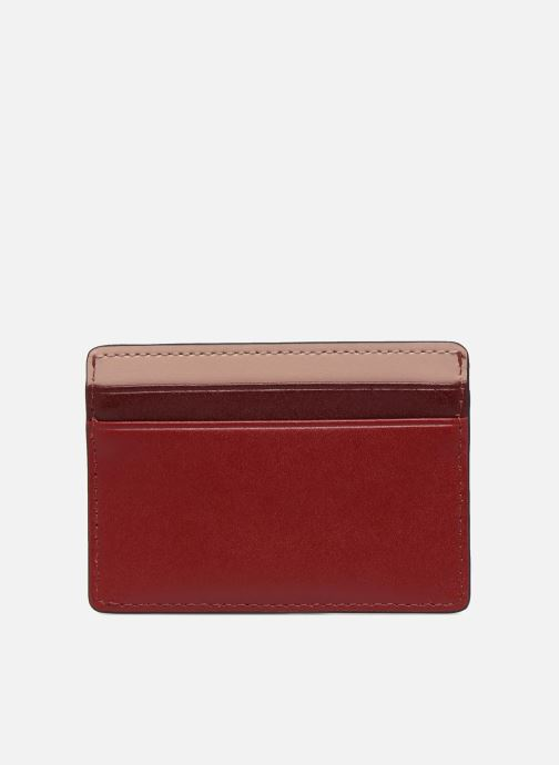 Kleine lederwaren Michael Michael Kors Money Pieces Card Holder Rood voorkant