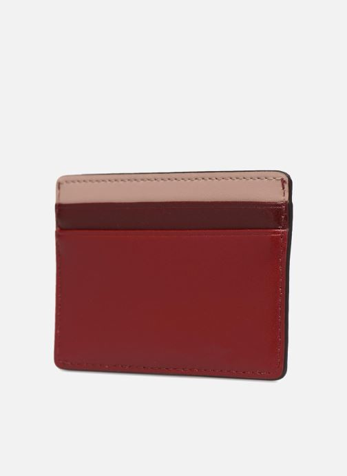 Kleine lederwaren Michael Michael Kors Money Pieces Card Holder Rood rechts