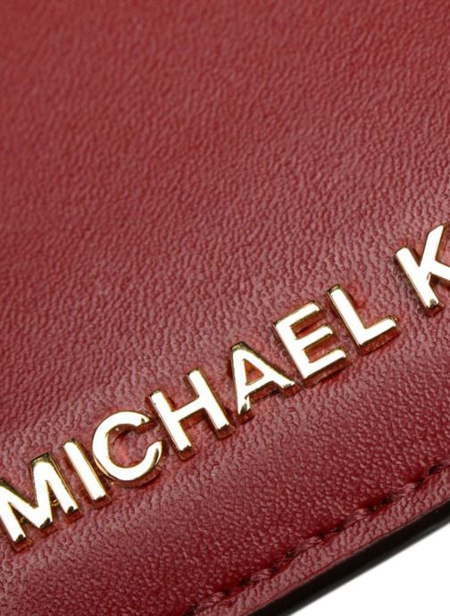Kleine lederwaren Michael Michael Kors Money Pieces Card Holder Rood achterkant