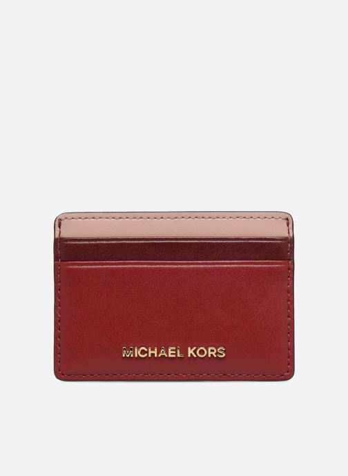 Kleine lederwaren Michael Michael Kors Money Pieces Card Holder Rood detail
