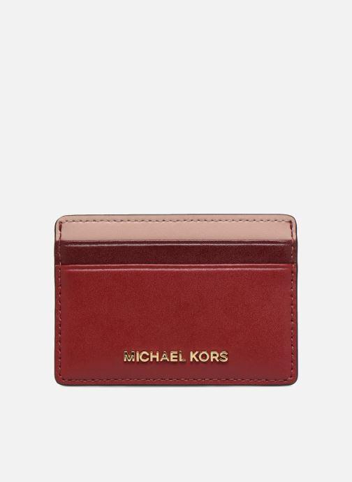 Kleine lederwaren Michael Michael Kors Money Pieces Card Holder Rood detail