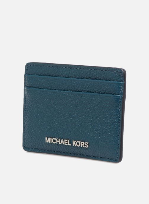 Kleine lederwaren Michael Michael Kors Money Pieces Card Holder Blauw model