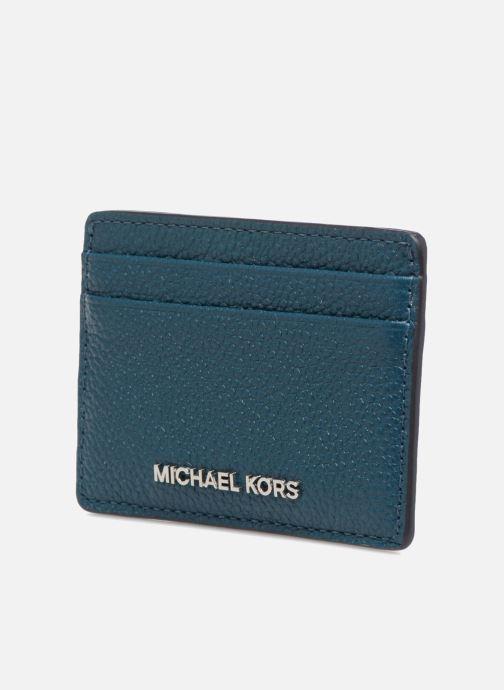 Kleine lederwaren Michael Michael Kors Money Pieces Card Holder Blauw model