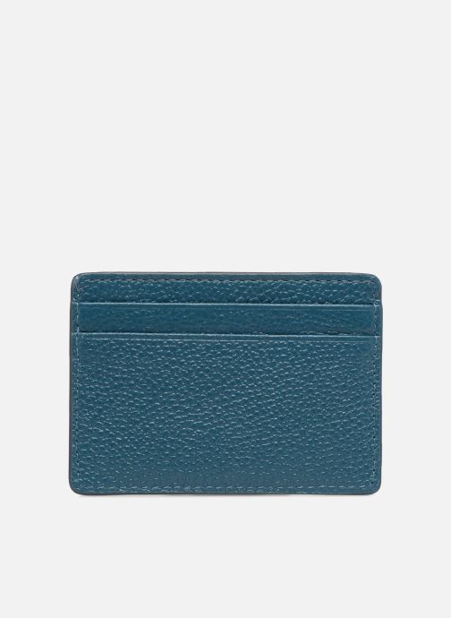 Kleine lederwaren Michael Michael Kors Money Pieces Card Holder Blauw voorkant