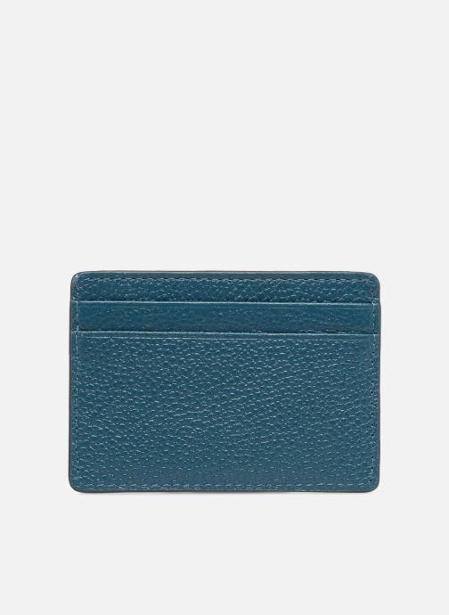 Kleine lederwaren Michael Michael Kors Money Pieces Card Holder Blauw voorkant