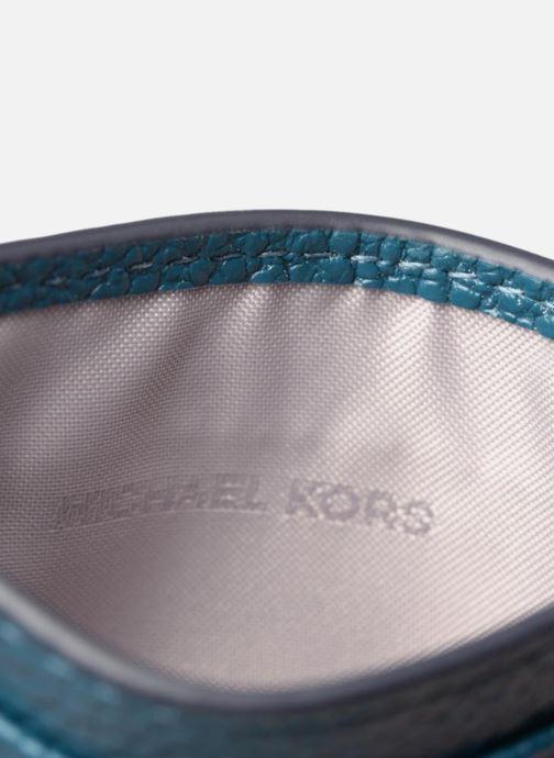 Kleine lederwaren Michael Michael Kors Money Pieces Card Holder Blauw achterkant