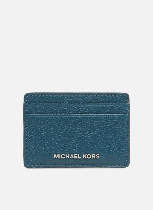 Kleine lederwaren Michael Michael Kors Money Pieces Card Holder Blauw detail