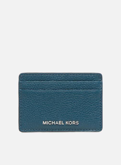 Kleine lederwaren Michael Michael Kors Money Pieces Card Holder Blauw detail
