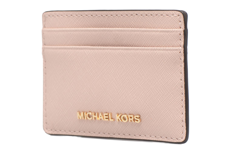 Marroquinería pequeña Michael Michael Kors Money Pieces Card Holder Rosa vista del modelo