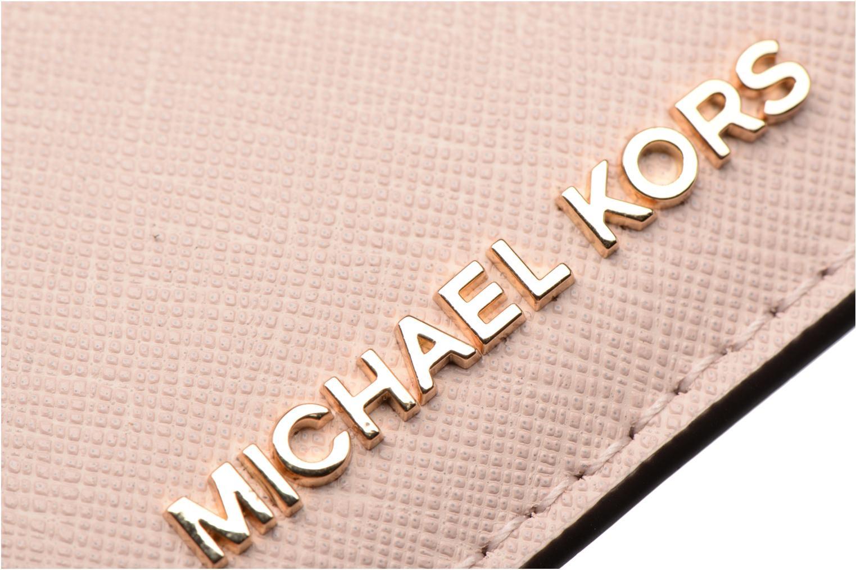 Marroquinería pequeña Michael Michael Kors Money Pieces Card Holder Rosa vista lateral izquierda