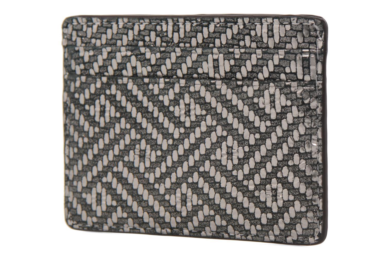 Kleine lederwaren Michael Michael Kors Money Pieces Card Holder Zilver rechts