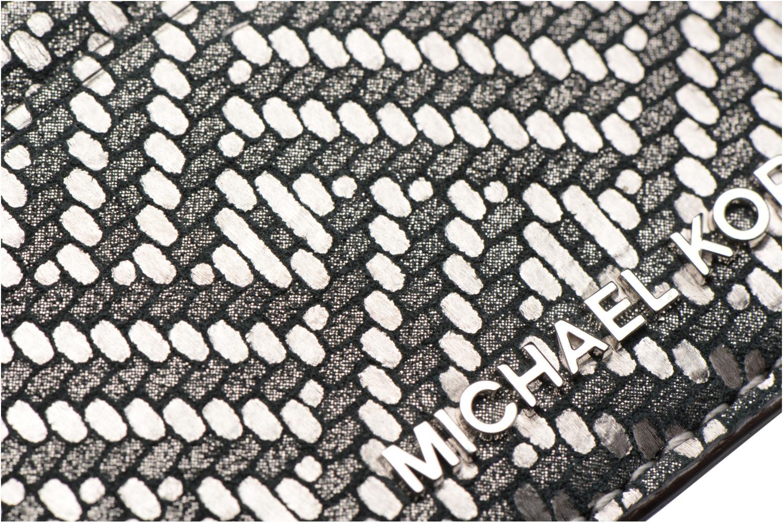 Kleine lederwaren Michael Michael Kors Money Pieces Card Holder Zilver links