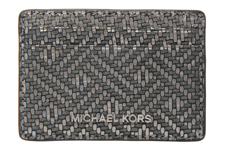 Kleine lederwaren Michael Michael Kors Money Pieces Card Holder Zilver detail