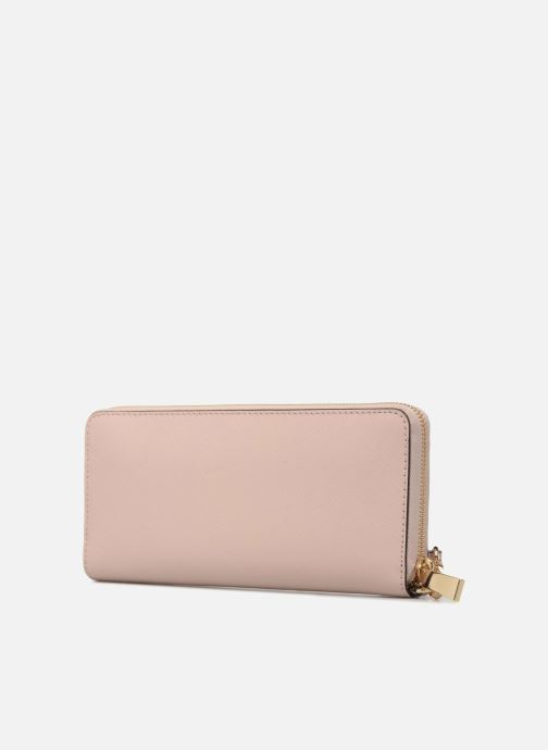 Wallets & cases Michael Michael Kors Money Pieces Travel continental Pink view from the right