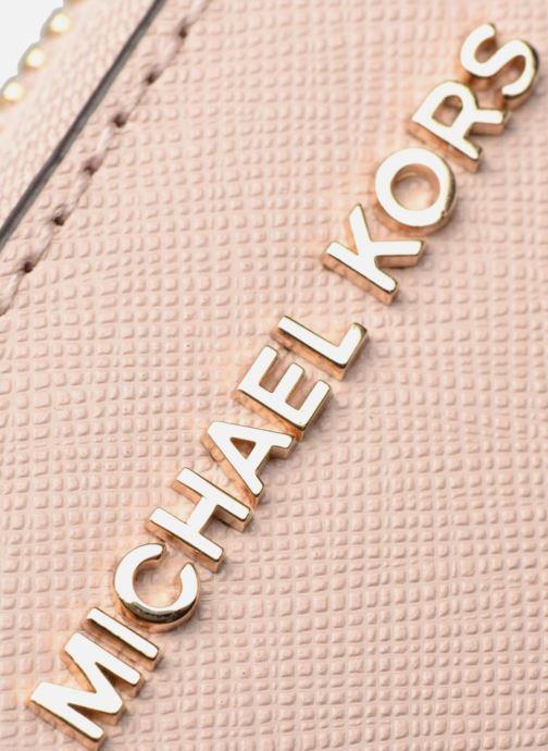 Marroquinería pequeña Michael Michael Kors Money Pieces Travel continental Rosa vista lateral izquierda
