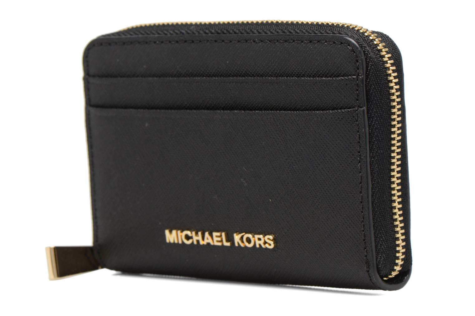 Marroquinería pequeña Michael Michael Kors Money Pieces ZA Card Case Negro vista del modelo