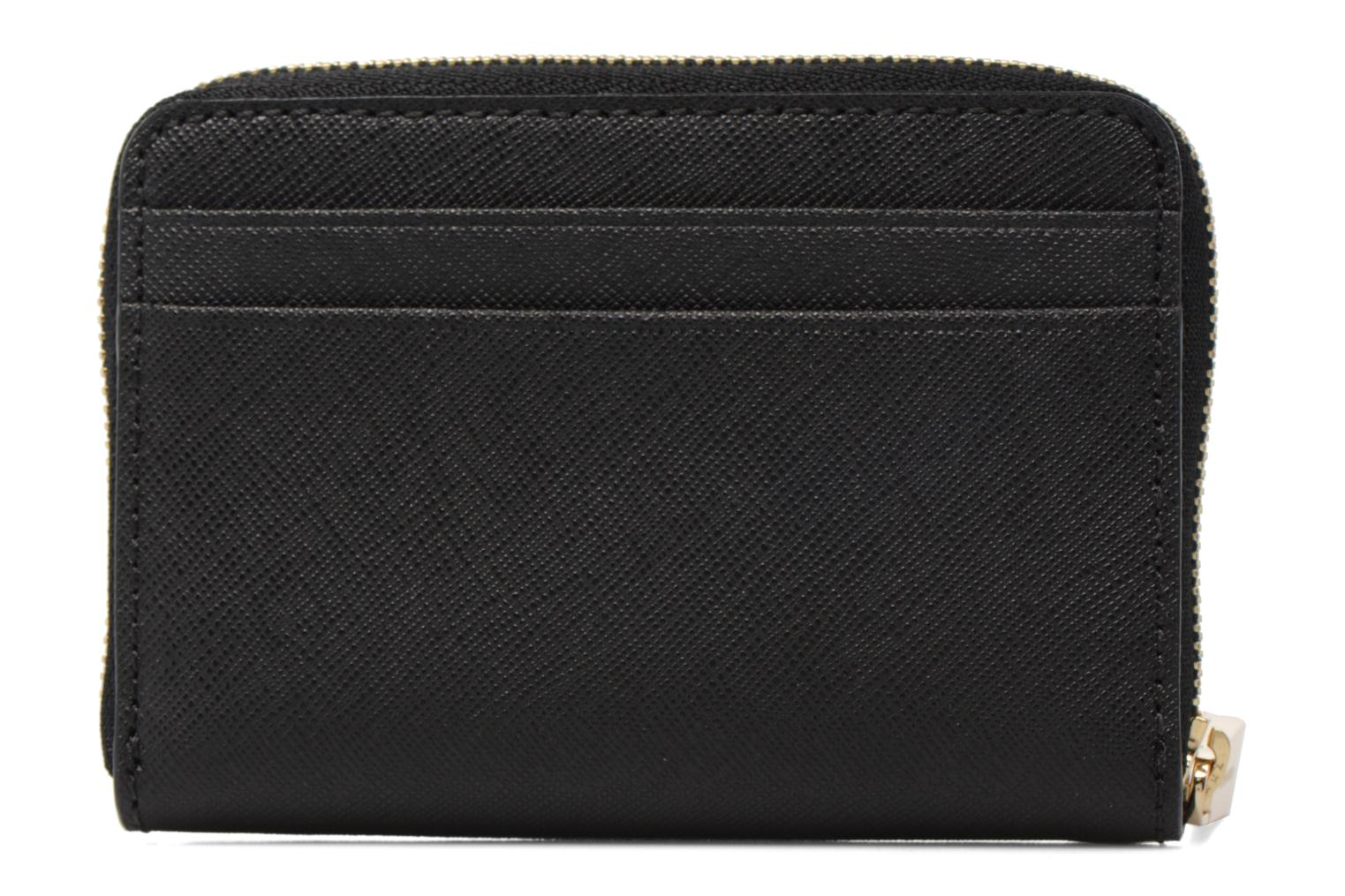 Marroquinería pequeña Michael Michael Kors Money Pieces ZA Card Case Negro vista de frente