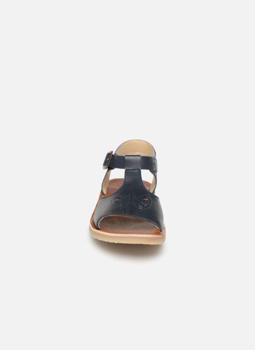 Sandales et nu-pieds Young Soles Belle Bleu vue portées chaussures