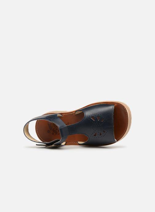 Sandales et nu-pieds Young Soles Belle Bleu vue gauche