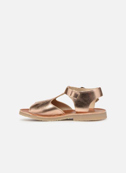 Sandales et nu-pieds Young Soles Belle Argent vue face