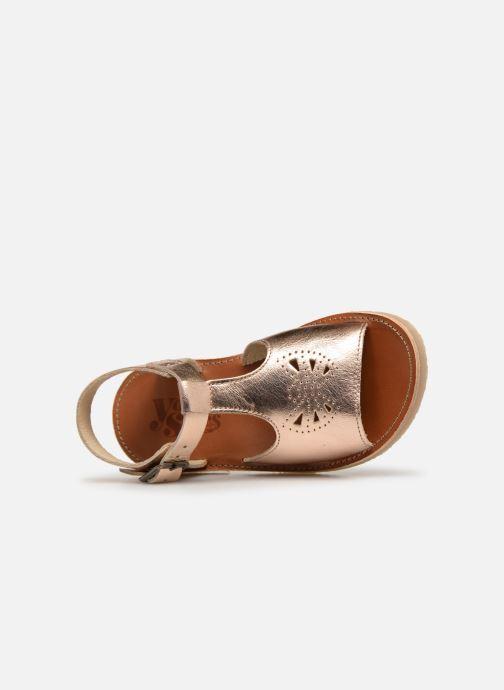 Sandales et nu-pieds Young Soles Belle Argent vue gauche