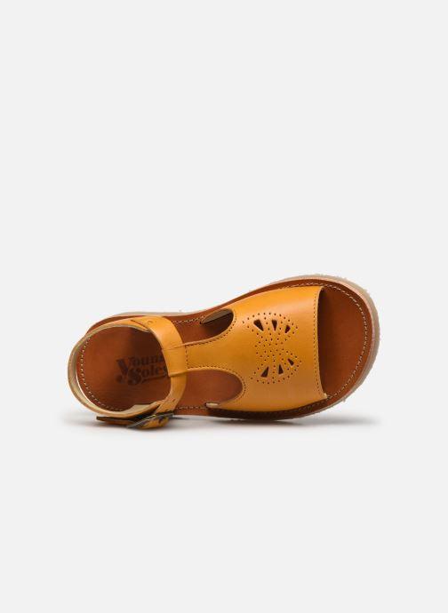 Sandales et nu-pieds Young Soles Belle Jaune vue gauche