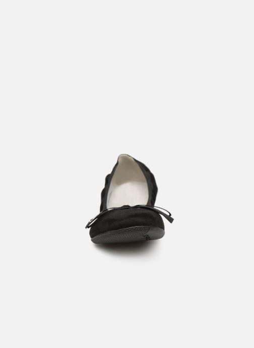 Ballerines Les P'tites Bombes ELLA VELOURS Noir vue portées chaussures