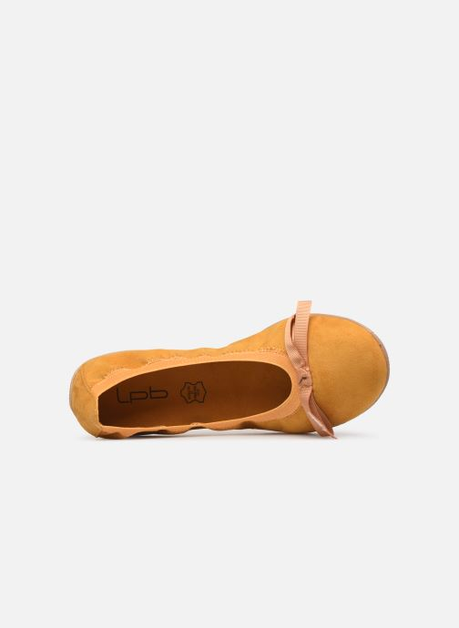 Ballet pumps Les P'tites Bombes ELLA VELOURS Yellow view from the left