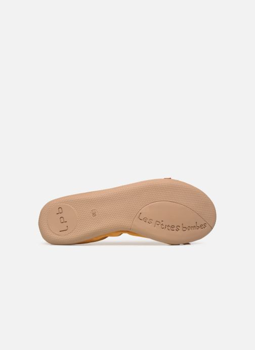 Ballet pumps Les P'tites Bombes ELLA VELOURS Yellow view from above
