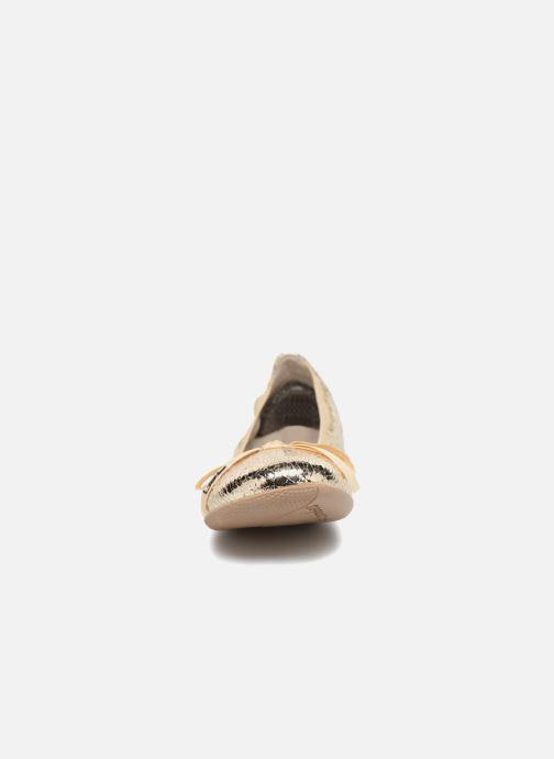 Ballerines Les P'tites Bombes Ella F Or et bronze vue portées chaussures