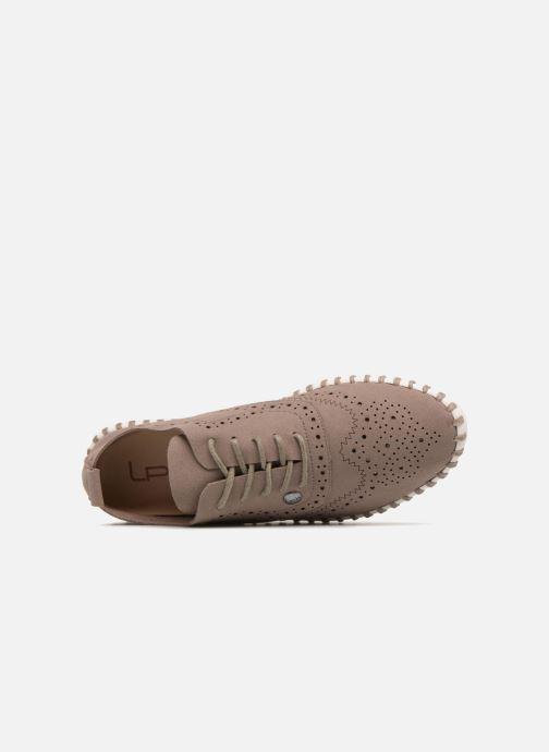 Chaussures à lacets Les P'tites Bombes Diva Marron vue gauche