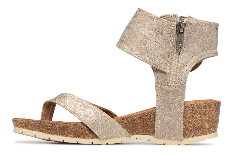 Sandales et nu-pieds Les P'tites Bombes Kelly Or et bronze vue face