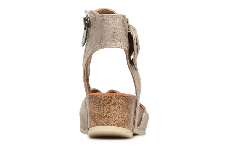 Sandales et nu-pieds Les P'tites Bombes Kelly Or et bronze vue droite