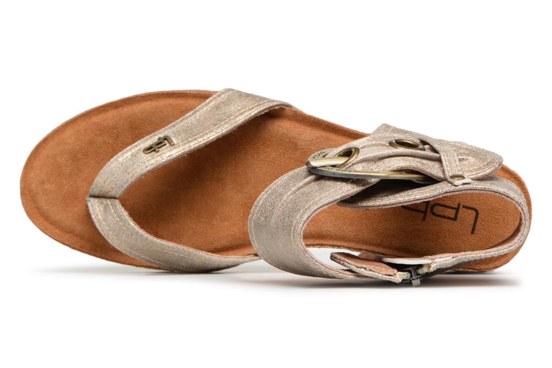 Sandales et nu-pieds Les P'tites Bombes Kelly Or et bronze vue gauche
