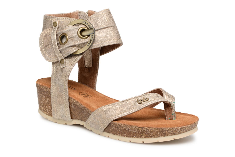 Sandales et nu-pieds Les P'tites Bombes Kelly Or et bronze vue détail/paire