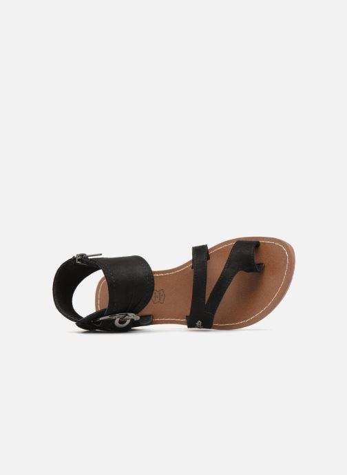 Sandales et nu-pieds Les P'tites Bombes Pensée velours Noir vue gauche