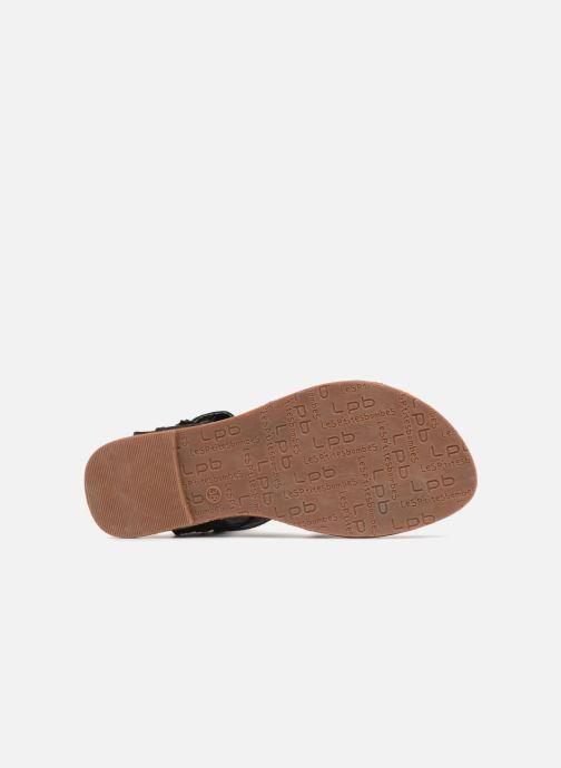 Sandales et nu-pieds Les P'tites Bombes Pensée velours Noir vue haut
