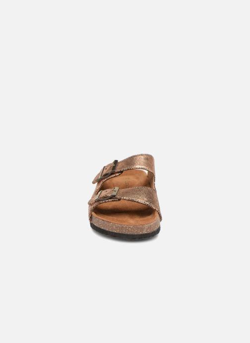 Mules et sabots Les P'tites Bombes Orphée Or et bronze vue portées chaussures